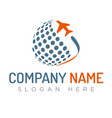 travel agency logo template vector image vector image