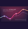trendy charts diagrams and graphs on dark vector image