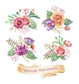 Watercolor Bouquets vector image vector image