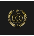 Eco product label vector image