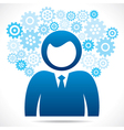 businessmen with blue gear vector image