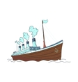doodle ship vector image