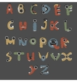 Monster english Alphabet shaped as monsters vector image