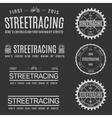 Retro Vintage Insignias or Logotypes set of vector image