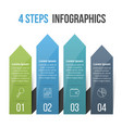 4 steps infographics with arrows vector image
