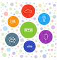 7 bubble icons vector image vector image