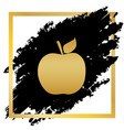 apple sign golden icon at vector image