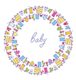 Baby laundry cute frame