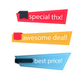 banner set of modern colorful banner image vector image vector image