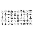 big set of halloween silhouette icon vector image
