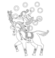 black and white line art of circus vector image vector image