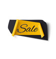 black and yellow abstract sale banner isolated on vector image vector image