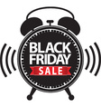 Black friday big sale alarm clock black icon with vector image vector image