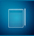 blank notebook and pencil with eraser icon vector image vector image