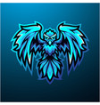 blue phoenix mascot logo design vector image