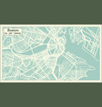 boston usa city map in retro style outline map vector image vector image