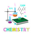 chemistry items subject poster vector image vector image