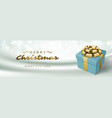 christmas banner horizontal design template vector image