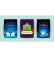 Christmas greeting cards set and ornate