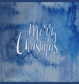 christmas greetings on watercolor background vector image