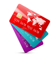 Colorful Credit Cards Set Isolated on White vector image vector image