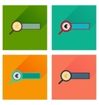 Concept flat icons with long shadow find money vector image vector image