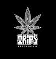 creative psychedelic cannabis logo symbol icon vector image