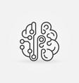 cyberbrain concept line icon smart brain vector image