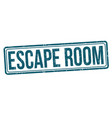 escape room grunge rubber stamp vector image vector image