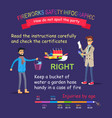 fireworks safety infographic right behaviour vector image vector image