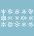 flat design line snowflakes icon set vector image vector image