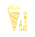 Flat Icon ice cream with shadow vector image