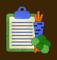 flat shading style icon vegetable menu vector image vector image