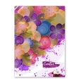Floral card Business artworks with watercolor vector image