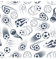 Football or soccer balls seamless pattern vector image vector image