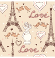 french wallpaper vector image vector image