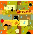 Funny autumn background vector image vector image