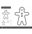 gingerbread man line icon vector image
