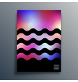 gradient texture waves design for background vector image