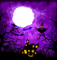 halloween purple background vector image vector image