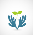 Hands and plant vector image