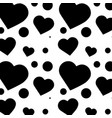heart cartoon pattern image vector image
