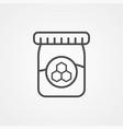 honey jar icon sign symbol vector image vector image