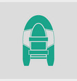 icon of rubber boat vector image vector image