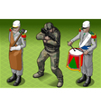 Isometric Foreign Legion Militar People vector image vector image