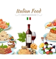 Italian cuisine food background vector image