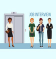 job interview banner women vector image