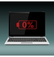 Laptop with low battery vector image