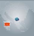 macedonia information map vector image vector image