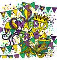 mardi gras or shrove tuesday vector image vector image